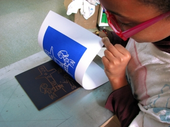 Ateliers linogravure Spig linocutfactory Stéphane Gétas à Talence
