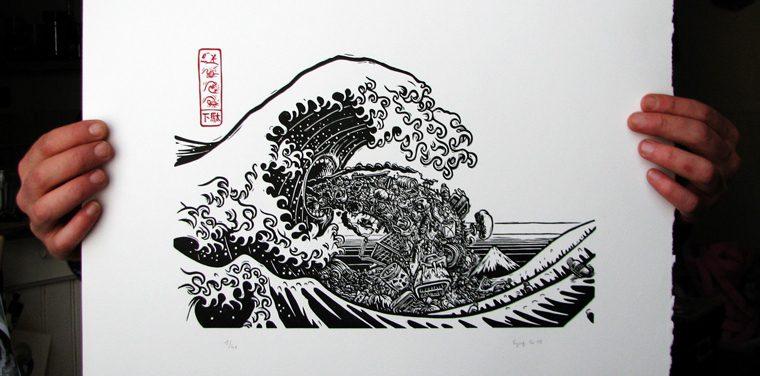 Spig illustration Stephane Getas Linocutfactory illustration