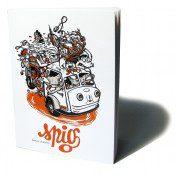 Artbook Spig / Stéphane Gétas - Linocutfactory - 64 pages de linogravures - édition Charrette