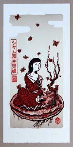 Shamu cho spig Linogravure couleurs linocutfactory linocutfactory