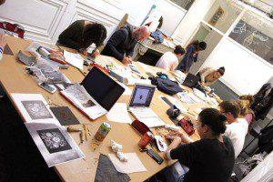 workshop expo sup de pub + spig linocutfactory stephane gétas