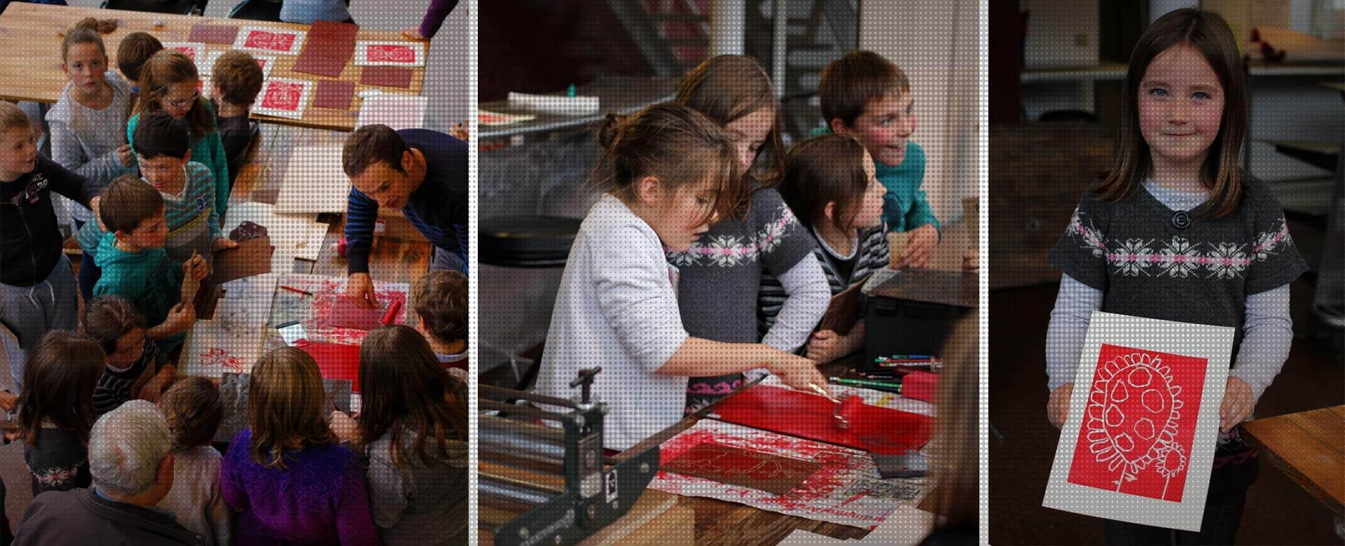 Ateliers mobiles de linogravure Linocutfactory. Illustration et linogravure pour tout public.