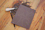 Atelier linogravure avec Spig Linocutfactory au salon du livre d'Albert 2016