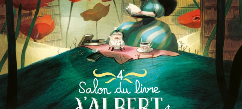 Spig Linocutfactory Stéphane Gétas Salon du livre à Albert affiche2015 Ateliers linogravure