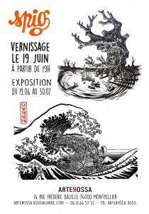 Expo Spig à la galeerie Arterossa à Montpellier