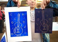 Ateliers linogravures et illustrations au Salon du livre d'Albert - Spig Linocutfactory